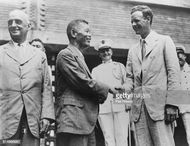American aviator Charles Lindbergh during a visit to Japan circa 1931