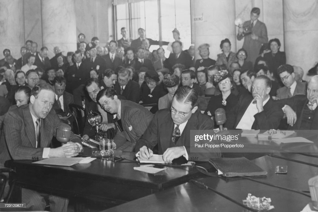 Charles Lindbergh Testifies : News Photo