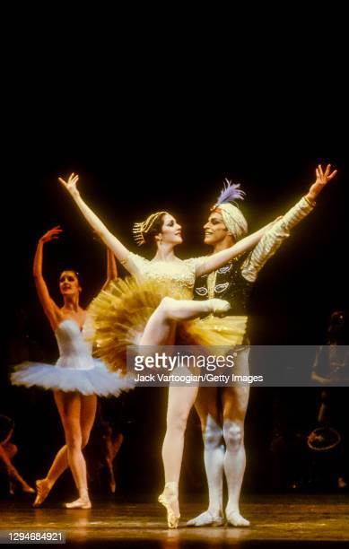 American ballerina Cynthia Harvey and English ballet dancer Sir Anthony Dowell perform in the final dress rehearsal prior to the premiere of Natalia...
