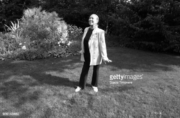 American ballerina Maria Tallchief in the garden of her home in Highland Park Illinois USA on September 29 2003