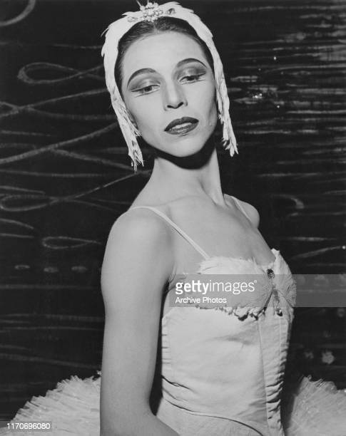 American ballerina Maria Tallchief prima ballerina of the New York City Ballet in 'Swan Lake' ballet costume US circa 1960