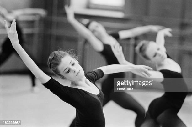 American ballet dancer Merrill Ashley of the New York City Ballet at practice June 1968