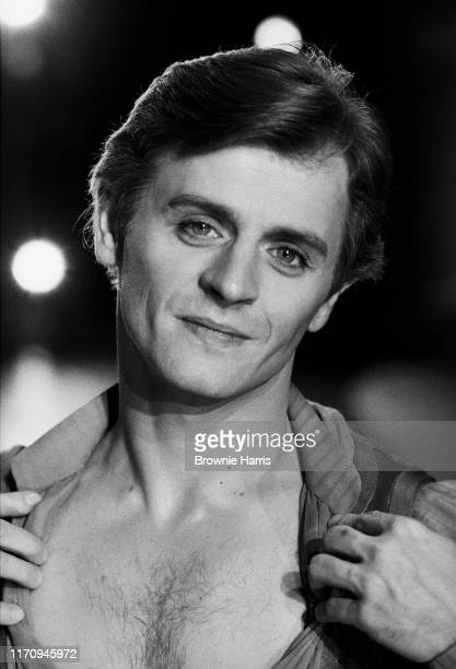 American ballet dancer Mikhail Baryshnikov backstage rehearsing the American Ballet Theatre's production of 'Other Dances' at the Ed Sullivan Theatre...