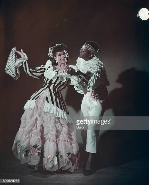 American ballet dancers Katherine Dunham and Vanoye Aikens in Dunham's ballet 'L'Ag' Ya' at the Prince of Wales Theatre in London 1948