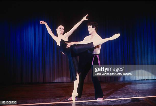 American ballet dancers Patricia McBride and Jacques d'Amboise perform at a benefit for d'Amboise's National Dance Institute at Madison Square...