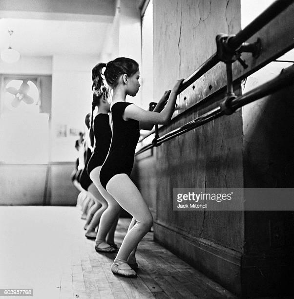 American Ballet Theater dance class for children in Manhattan, 1961.