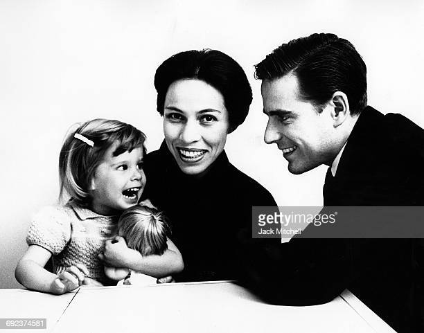 American Ballet Theatre dancer Maria Tallchief with her daughter Elise and husban Henry C Paschen Jr in 1961