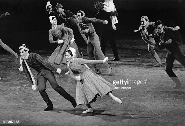 American Ballet Theatre dancers Eliot Feld and Karena Brock in Agnes de Mille's Wind in the Mountains 1966