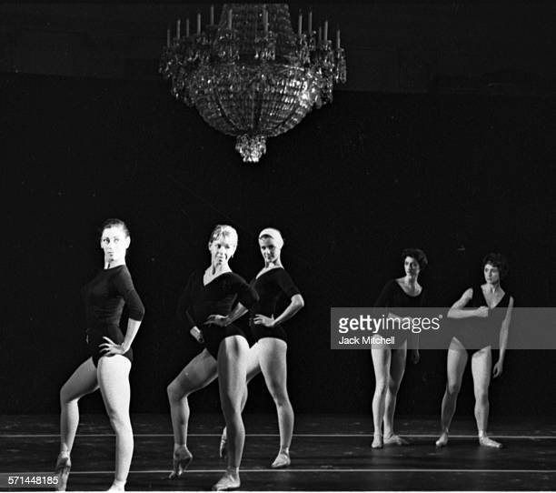 American Ballet Theatre dancers rehearse Billy the Kid in the White House East Room May 22 1962