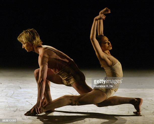 American Ballet Theatre performance of four pieces of works at the Dorothy Chandler Pavilion Pic shows dancers Stella Abrera and Ethan Stiefel in...