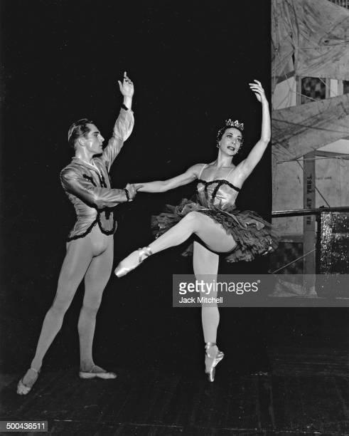 American Ballet Theatre principal dancers Erik Bruhn And Nora Kaye performing 'Paquita' in 1969