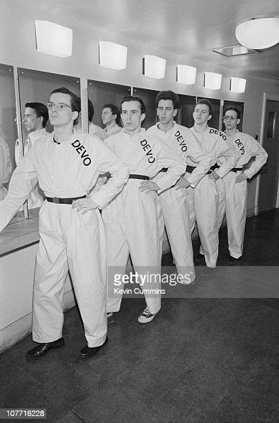 American band Devo at the Free Trade Hall in Manchester 11th March 1978