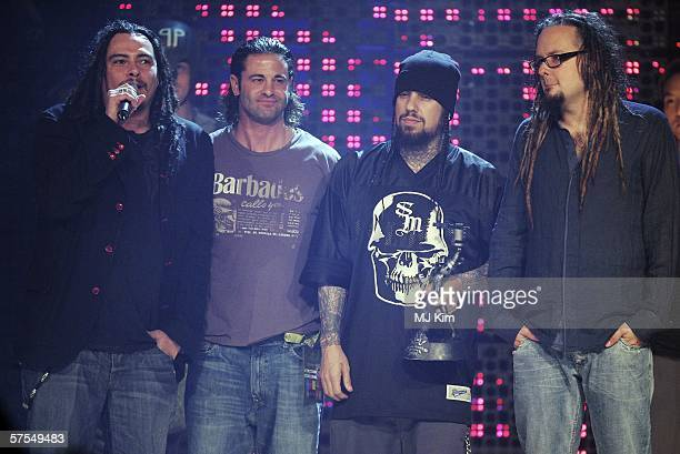 American band Korn accepts the award for Favourite Video Award at the MTV Asia Awards Bangkok 2006 the fifth annual MTV Asia Awards at Siam Paragon...