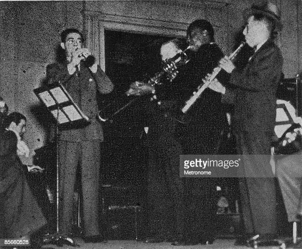 American band leader and clarinettist Benny Goodman and his band rehearse for their debut perfomance at Carnegie Hall New York New York January 16...