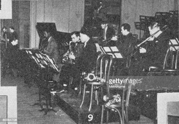 American band leader Benny Goodman and his band rehearse for their debut perfomance at Carnegie Hall New York New York January 16 1938 Among those...