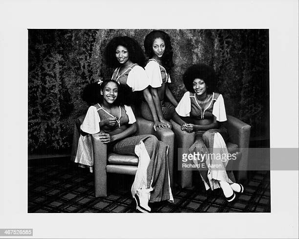 American band Sister Sledge on stage 1977
