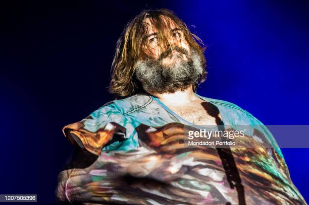 American band Tenacious D formed by american actor and singer Jack Black and musician Kyle Gass performs live on stage in Milan. Milan , February...