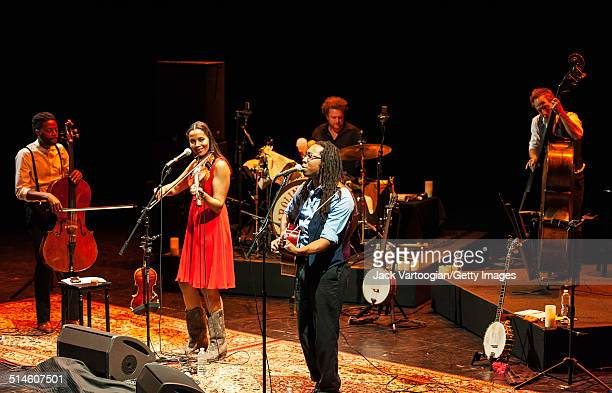 American band the Carolina Chocolate Drops perform during a concert of Black string-band music in 2014 Next Wave Festival's celebration of 50th...