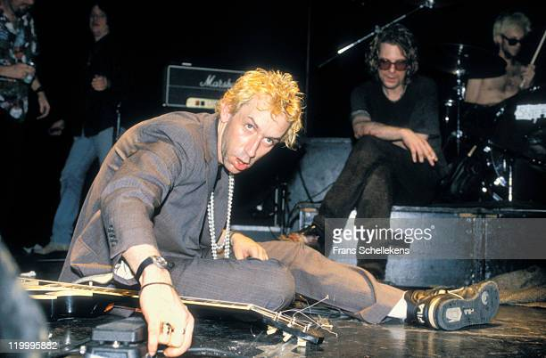 American band Thelonious Monster perform live on stage at the Melkweg in Amsterdam, Netherlands on 2nd March 1993. Lead singer Bob Forrest is sitting...