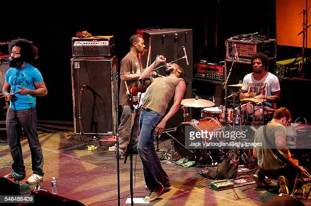 American band TV on the Radio perform onstage at 'Winter Soul' at the Brooklyn Academy of Music's Howard Gilman Opera House Brooklyn New York New...