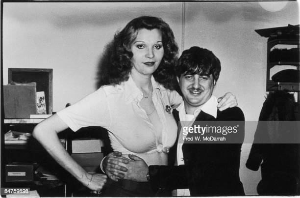 American bank robber John Wojtowicz poses with his transsexual girlfriend Elizabeth Debbie Eden after his release from prison for a 1972 robbery...