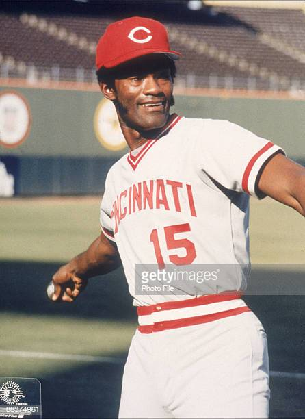 American baseball player George Foster of the Cincinnati Reds prepares to throw a ball 1970s