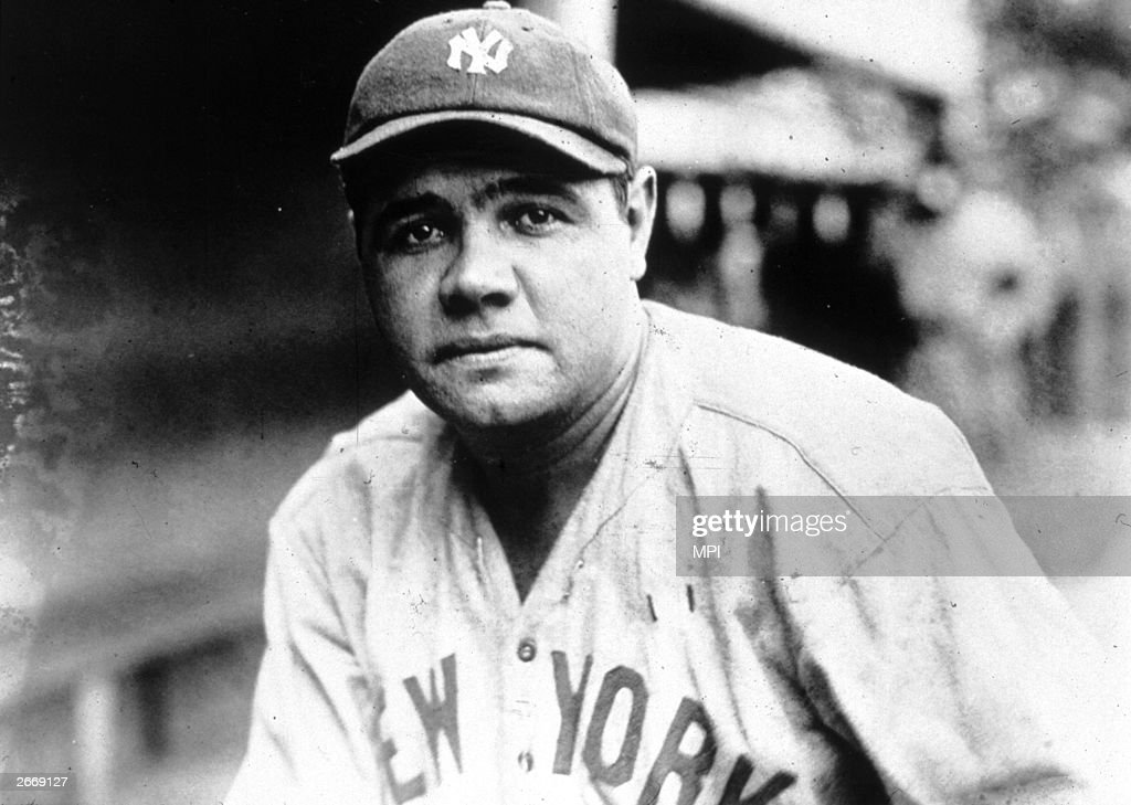 American baseball player George Herman Ruth (1895 - 1948) known as 'Babe' Ruth.