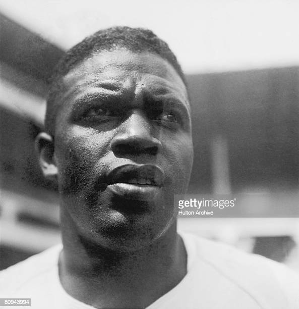 American baseball player Jackie Robinson during his time with the Brooklyn Dodgers 28th August 1949