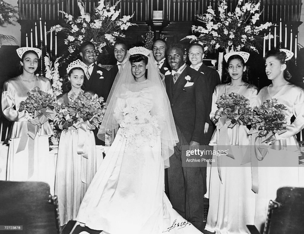 Jackie Robinson Wedding : News Photo