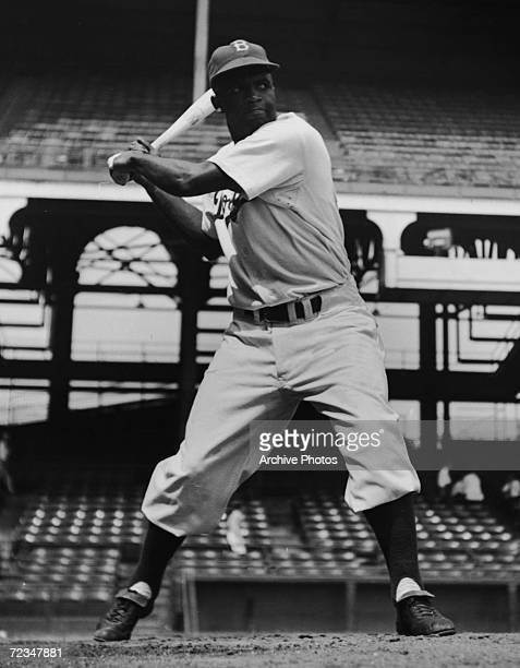 American baseball player Jackie Robinson of the Brooklyn Dodgers, 28th August 1949.