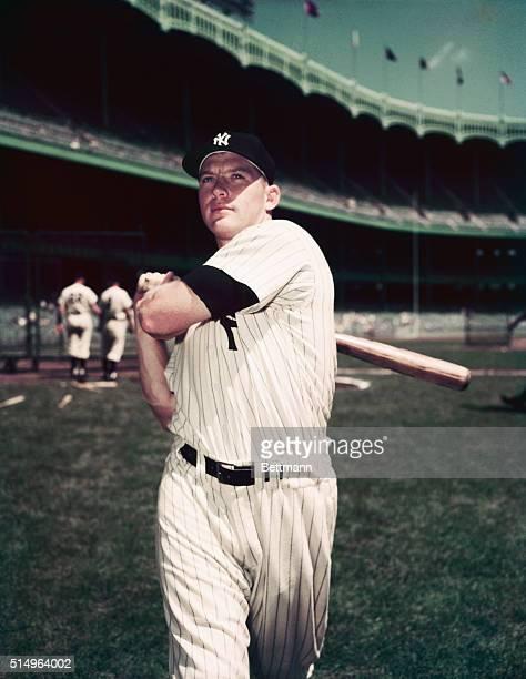 American baseball player Mickey Mantle , of the New York Yankees, at Yankee Stadium, New York, September 1962.