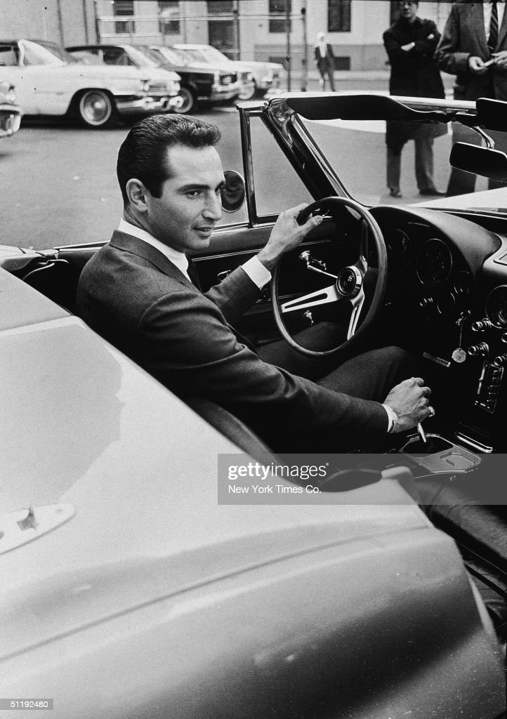 American baseball player Sandy Koufax of the Los Angeles Dodgers sits in the Corvette he received from Sports Illustrated magazine for his performance in the World Series, October 18, 1965. The Dodgers defeated the Minnesota Twins 4-3 and Koufax was the Series' Most Valuable Player.