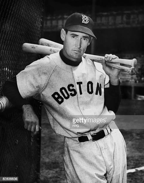 American baseball player Ted Williams of the Boston Red Sox circa 1950