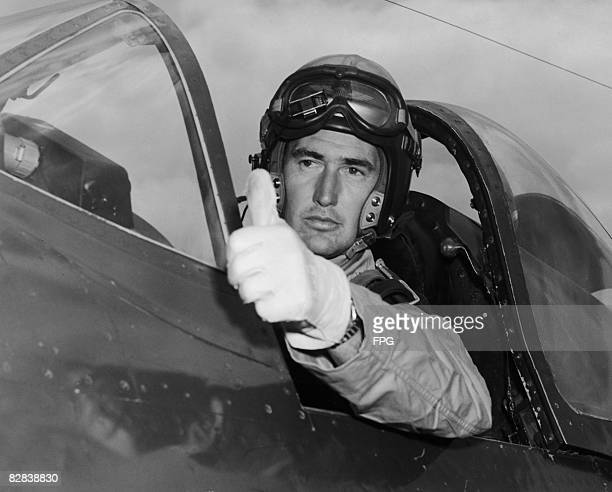 American baseball player Ted Williams of the Boston Red Sox serves in the United States Marine Corps during the Korean War circa 1952
