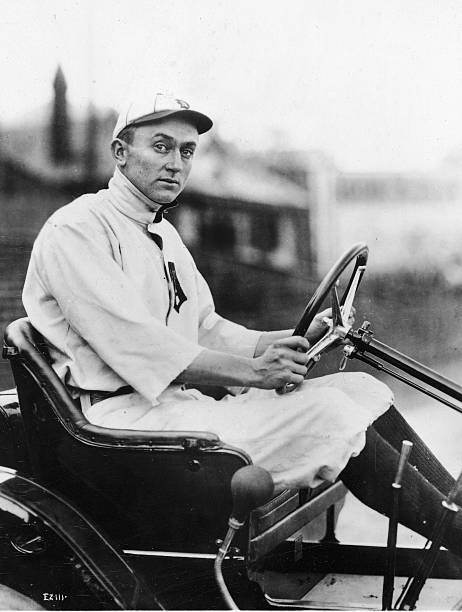 Ty Cobb Driving Car In Uniform
