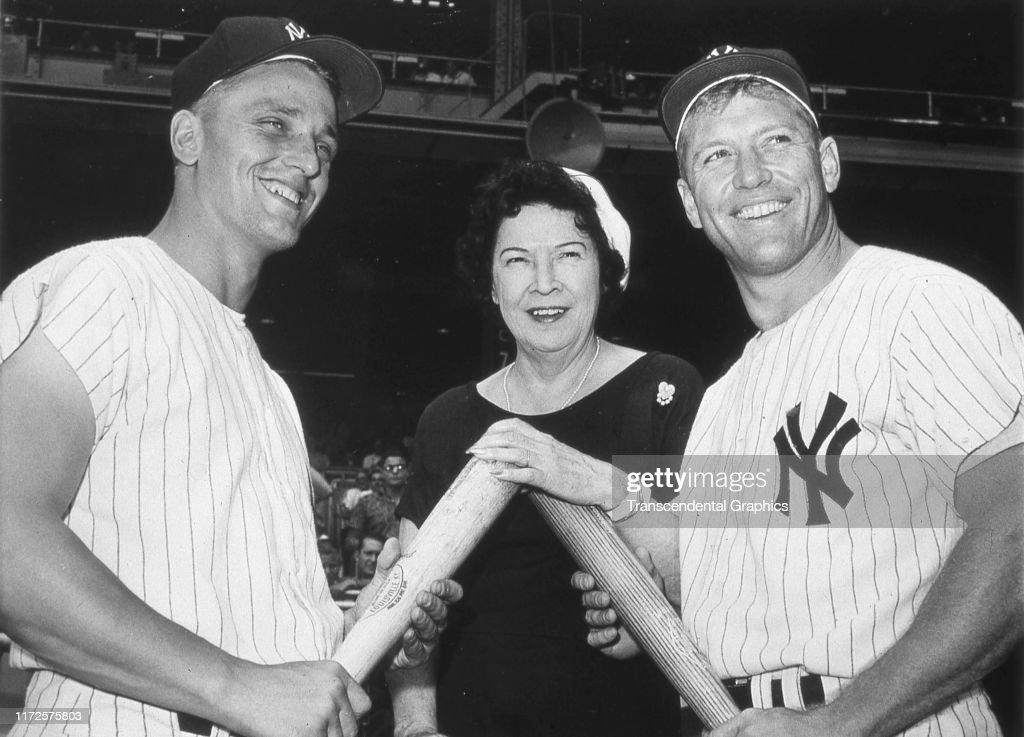 Portrait Of Maris, Ruth, & Mantle : News Photo