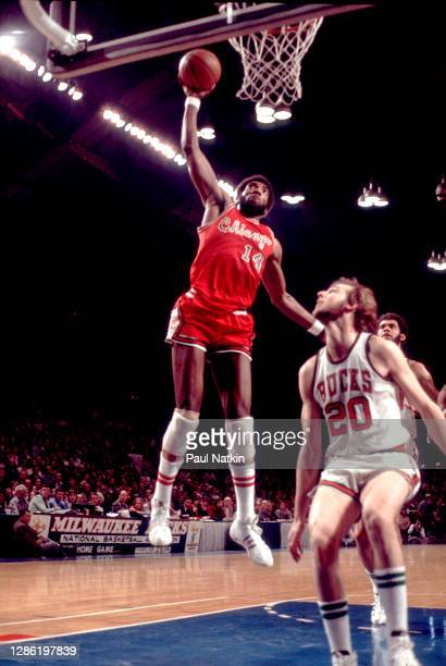 American basketball player Clifford Ray playing for the Chicago Bulls vs. The Milwaukee Bucks in the NBA Playoffs at Milwaukee Arena, Milwaukee,...