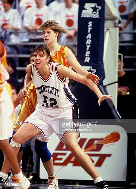 American basketball player Kara Wolters, of the University of Connecticut, in action during a game against the University of Tennessee, Storrs,...