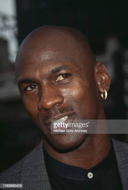 American basketball player Michael Jordan attends the premiere of 'Space Jam', held at Mann's Chinese Theatre in Los Angeles, California, 10th...