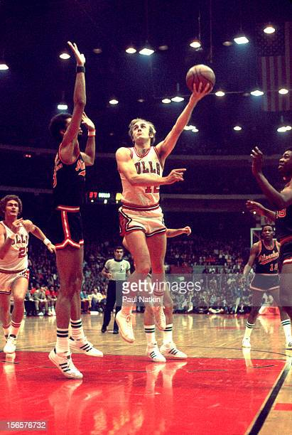 American basketball player Rick Adelman of the Chicago Bulls with the ball during a game against the Milwaukee Bucks Chicago Illinois early to mid...