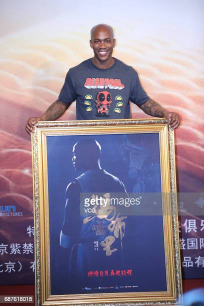 American basketball player Stephon Marbury attends a press conference of director Yang Zi's film 'My Other Home' on May 24 2017 in Beijing China