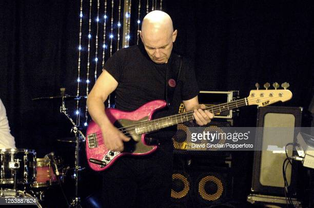 American bass guitarist Frank Gravis performs live on stage at Pizza on the Park in London on 28th December 2005