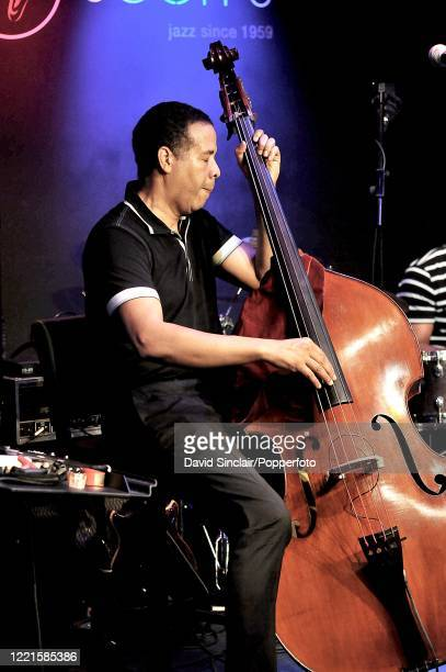 American bassist Stanley Clarke performs live on stage at Ronnie Scott's Jazz Club in Soho, London on 14th July 2010.