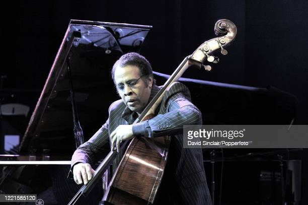 American bassist Stanley Clarke performs live on stage at the BBC Jazz Awards in London on 21st July 2008.