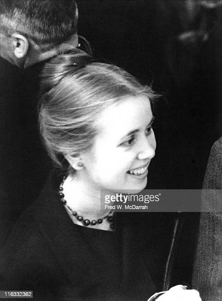 American Beat author Joyce Glassman smiles as she attendeds an unspecified event at the Staempfli Gallery New York New York May 3 1960