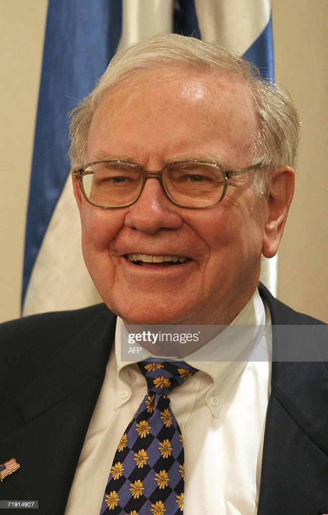 American billionaire Warren Buffett look : News Photo