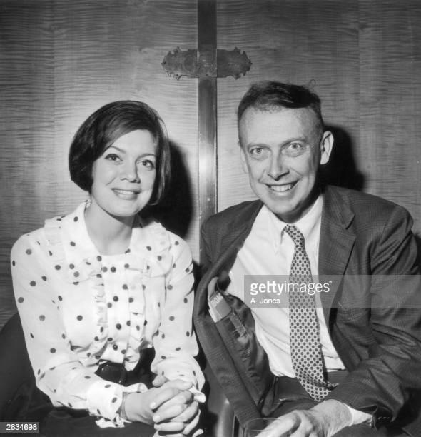 American biologist James Dewey Watson with his wife Elizabeth Watson