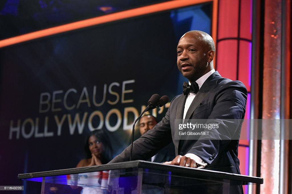 American Black Film Festival founder Jeff Friday speaks onstage during the 2016 ABFF Awards: A Celebration Of Hollywood at The Beverly Hilton Hotel on February 21, 2016 in Beverly Hills, California.