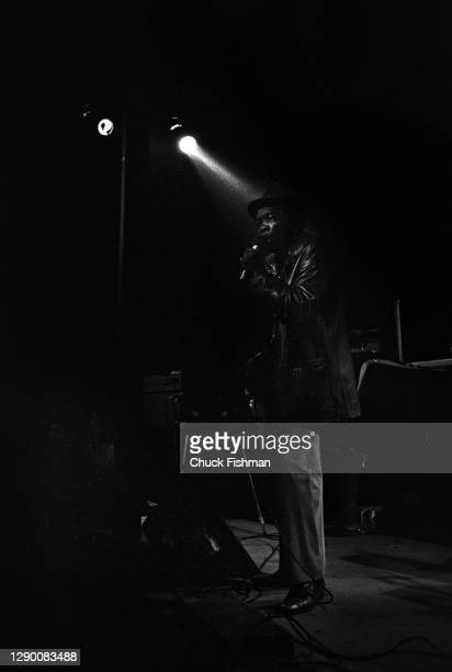 American Blue musician John Lee Hooker performs onstage at the Keystone nightclub, Berkeley, California, December 1974.