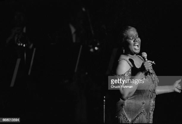 American Blues and Jazz musician Linda Hopkins performs onstage New York New York April 1981